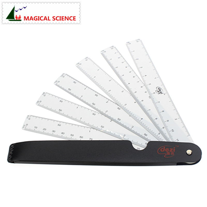 Fan Shape Scale Ruler With 6 Blades For Engineering Architects Multifunctional Multiscale 6 Sizes Foldable Rulers
