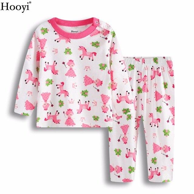 998499d895383 Princesse Grenouille Bébé Fille vêtements de Nuit Costumes Infantile Pyjamas  Rose 100% Coton Nouveau-