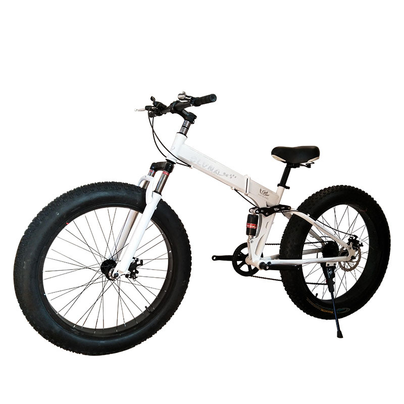 26 Inch Fat Bike / Snow Bike,4.0 Width Wheel,High Carbon Steel Frame,Aluminum Alloy Rim, Hydraumatic Disc Brakes,7 -27Spe