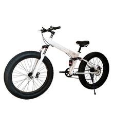 26 Inch Fat Bike / Snow Bike,4.0 Width Wheel,High Carbon Steel Frame,Aluminum Alloy Rim, Hydraumatic Disc Brakes,7 -27Spe стоимость