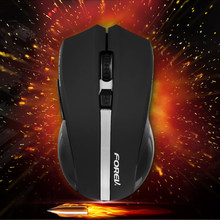 Forev FV-W9 2.4 GHz Nirkabel Mouse 5 Tombol Gaming Mouse 600-1600 DPI Adjustale Mouse Wireless dengan USB Receiver untuk Gamer PC(China)