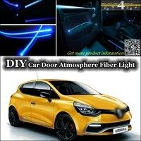 interior Ambient Light Tuning Atmosphere Fiber Optic Band Lights For Renault Clio / Lutecia Inside Door Panel illumination Refit