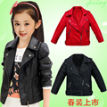 kids coats Children's clothing spring and autumn baby girls clothes Faux Leather outerwear child jackets
