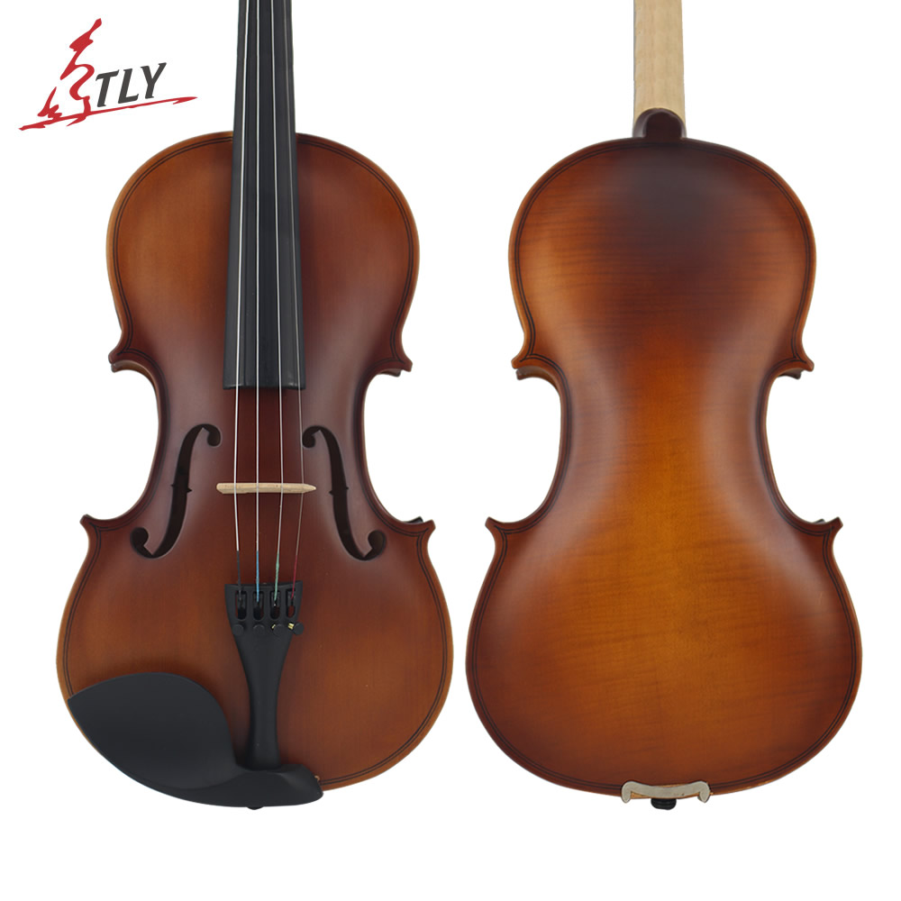 New TONGLING Beginner Antique Matte Acoustic Violin 1/8 1/4 1/2 3/4 4/4 Students Kids Violin w/ Case Bow Rosin Shoulder Rest kinglos antique acoustic violin 4 4 beethoven carved maple art violin ebony fittings with shoulder rest case bow rosin bridge