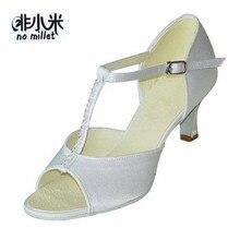 befd4074 No mijo profesional blanca/negra Blanco/Negro/oro/rojo/púrpura de satén o  PU con brillante 7 cm de tacón altura zapatos de baile.