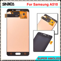 Sinbeda White Gold Black 5 2 LCD Screen For Samsung Galaxy A5 2016 A510 A510F LCD