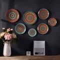 Настенные тарелки для домашнего декора  8 дюймов  ТВ  фоновые тарелки  кухни  классический дизайн  художественные декоративные тарелки  расп...