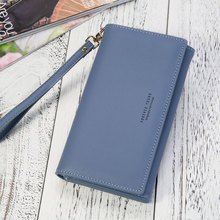 2019 Wristband Long Women Clutch Wallet Large Capacity Female Purse Simple Causal Lady Phone Pocket Multi Card Holder Carteras lady clutch large capacity forever young wallet long simple women shoulder crossbody bag handbags card holder birthday bags