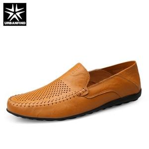 Image 4 - URBANFIND איטלקי Mens נעליים מקרית יוקרה מותג קיץ גברים נעלי מוקסינים נוח לנשימה להחליק על נעליים
