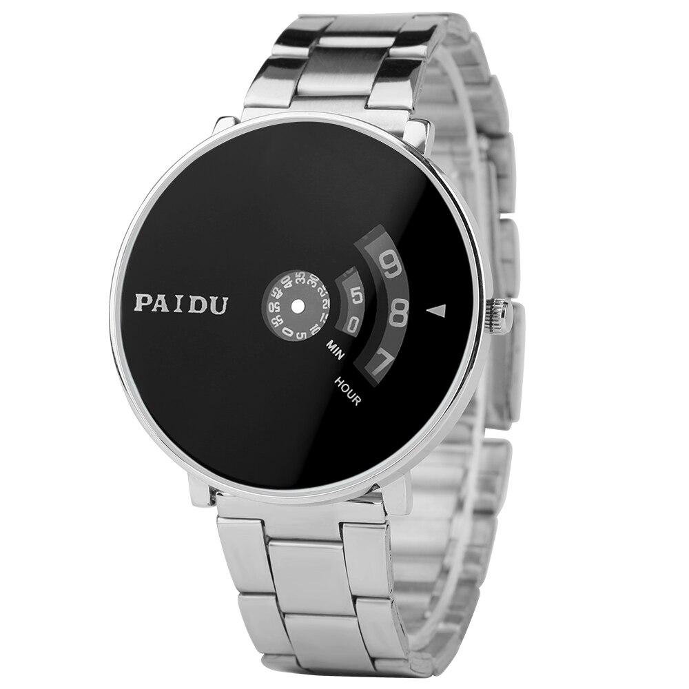 PAIDU Casual Stainless Steel Minimalist Men Wrist Watch Sport White/ Black Dial Quartz Creative Watches Modren Reloj Clock