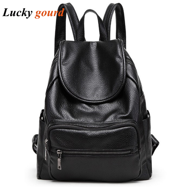 Fashion Brand New Travel Backpack Korean Women Backpack Leisure Student  Schoolbag Soft PU Leather Women Bag Z548 706ad160c4796