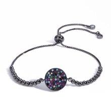 Vrui Fashion Disc Colorful Snake Bracelet DIY Adjustable Men Women Couple Evil Eye Bracelet&Bangles On the Arm