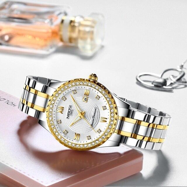 Luxury Gold Quartz Couples Wristwatch Set 1