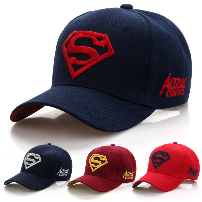 2019 New Letter Superman Cap Casual Outdoor Baseball Caps For Men Hats Women Snapback Caps For Adult Sun Hat Gorras wholesale