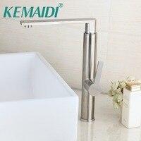 Modern Luxury Stainless Steel New Deck Mounted Bathroom Nickel BrushedFinish Bathroom Faucet Tap