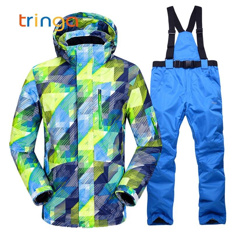 Nouveau costume de Ski chaud hommes hiver nouveau plein air coupe-vent étanche thermique mâle pantalon de neige définit Ski et snowboard veste de Ski hommes