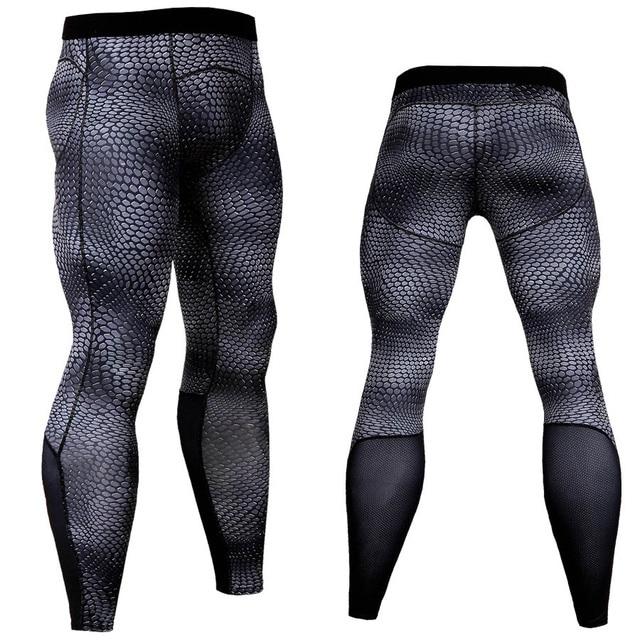 Novo Calças De Compressão Homens Crossfit Moda 3D Corredores Sweatpants Sportswear Calças Musculação MMA Aptidão Leggings Calças Justas
