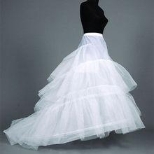 Petticoat Crinolines Underskirt Wedding-Gown Train Normal-Size White 2-Ring 2-To-14 Full-Slips