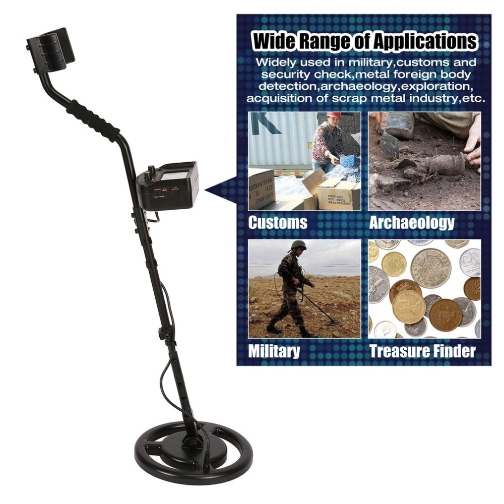 SMART SENSOR AS924 Professional Underground Metal Detector Adjustable Gold Silver Finder Treasure Hunter Seeker 2.5m Depth professional tx 850 deep penetrating gold nugget hunter pinpointing metal detector 19 khz frequency adjustable position armrest