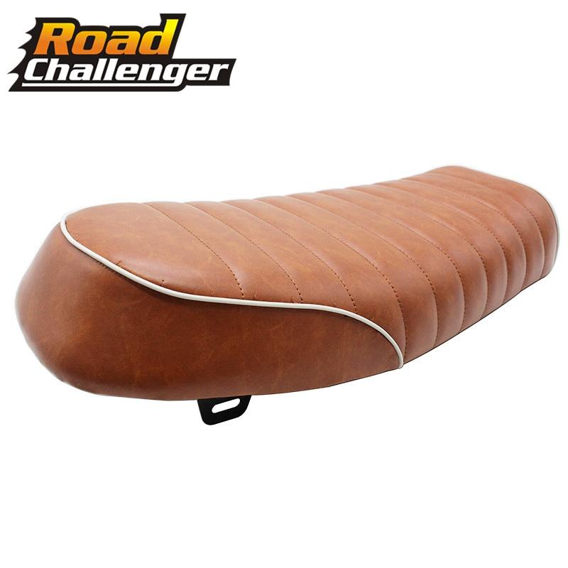 Brown Motorcycle Cafe Racer Seat Vintage Hump Saddle Seat For CG125