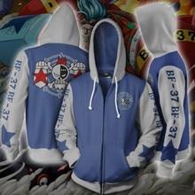 Anime ONE PIECE Sweatshirts Hoodie Cosplay Costume Jackets Men Top Coat Zipper Casual Hoded