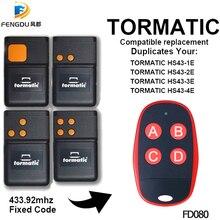 TORMATIC 433 mhz بعيد الناسخ TORMATIC HS43 1E HS43 2E HS43 3E HS43 4E بوابة باب المرآب عن بعد الارسال رمز ثابت
