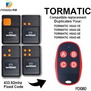 Image 1 - TORMATIC 433 mhz zdalnego powielacz TORMATIC HS43 1E HS43 2E HS43 3E HS43 4E bramy drzwi garażowe zdalnego nadajnika naprawiono kod