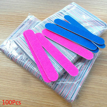 100Pcs Disposable Nail File Buffer Lima Lime Aongle Care Filer Emery Board EVA Toe Pedicure Manicure Tools