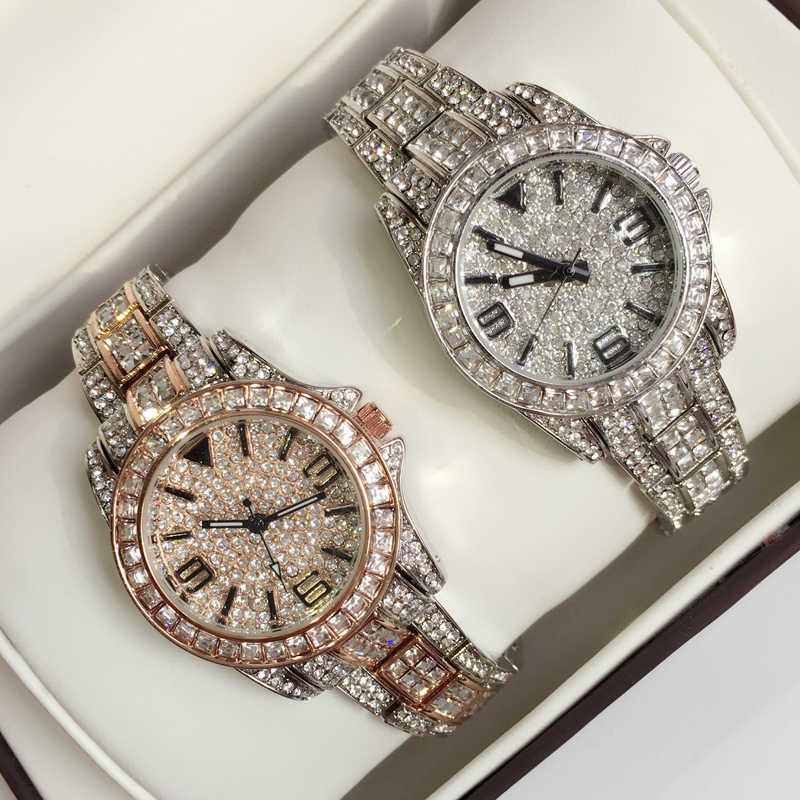 Hot Sales Oval Watches Women Full Rhinestone Watch Lady Diamond Stone Dress Watch Stainless Steel Crystal Bracelet Wristwatches