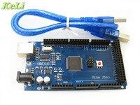 5sets Lot MEGA 2560 R3 ATmega2560 AVR USB Board Free USB Cable ATMEGA2560 For Arduino