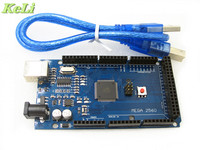 5sets Lot MEGA 2560 R3 ATmega2560 AVR USB Board Free USB Cable ATMEGA2560 For Arduino