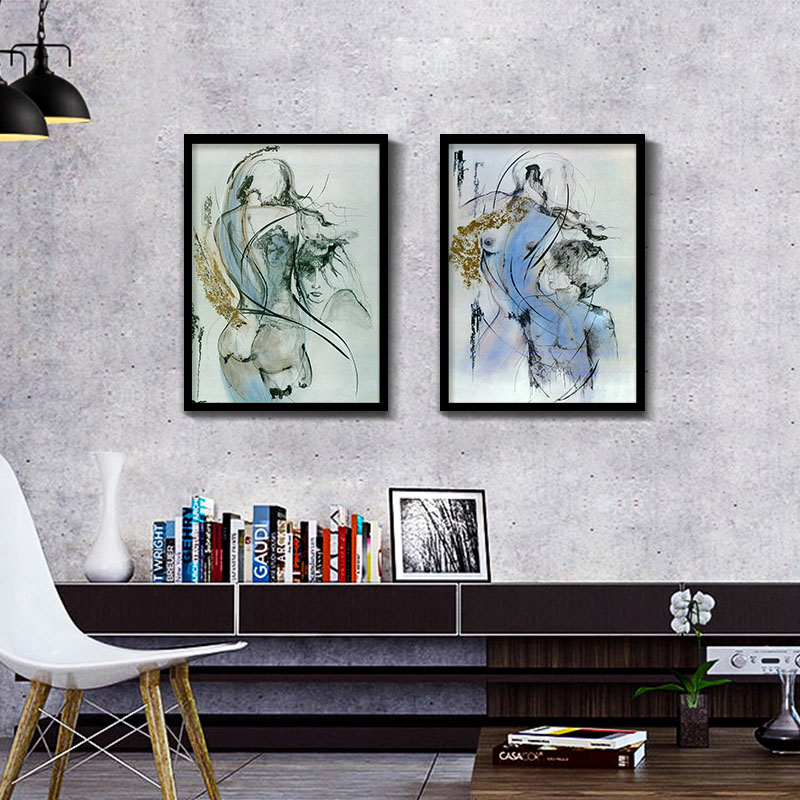 Cuadros abstractos cuadros modulares arte cartel pintura decorativa ...