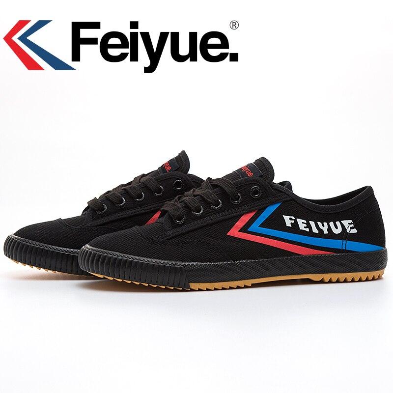 French Original Sneakers Feiyue Shoes Martial Arts Taichi Taekwondo Wushu Classic Black KungFu Women Men Shoes