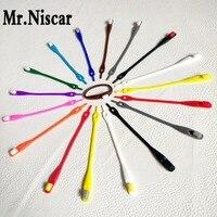 Mr Niscar 1Set 16Pcs 17 Color New Creative Square Shaped Elastic Shoelaces Silicone Lazy Shoe Laces