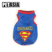 2017 Mesh Dog Clothes Summer Pet Vest Super Hero Cat Sport Dress Cotton Puppy Clothes China Clothing Chihuahua Dog Costume(China)