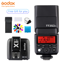 Godox TT350 Mini TT350F Speedlite flash TTL 2.4G+X1T-F Transmitter Wireless Flash Trigge for Fujifilm Camera X-Pro2/X-T20 /X-T1/ цена и фото
