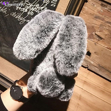 Rabbit Warm fur hair Case For Samsung Ga