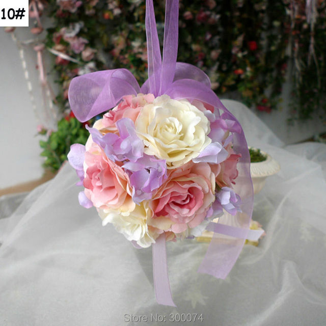 2pcs 12cm Brand Artificial Rose Hanging Flower Ball For A Wedding ...