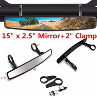 Triclicks UTV Race Rear View Mirror With 2 Clamp Truck Boats Mirrors For CanAm Commander Maverick