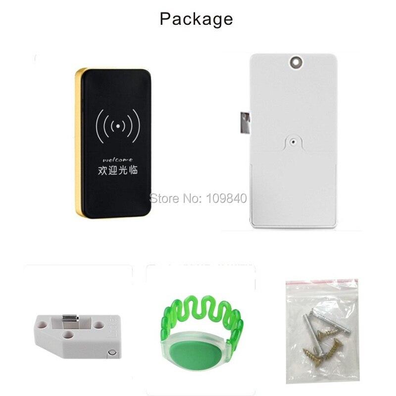 Купить с кэшбэком 2020 125khz Zinc Alloy Electronic Cabinet Drawer Lock with EM master wristband card safe for Sauna Fitness Shower Room