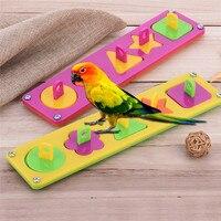 Pet Parrot S Puzzle Toys Colored Blocks Macaw Bird Toys S M L 1pcs Color Randomly
