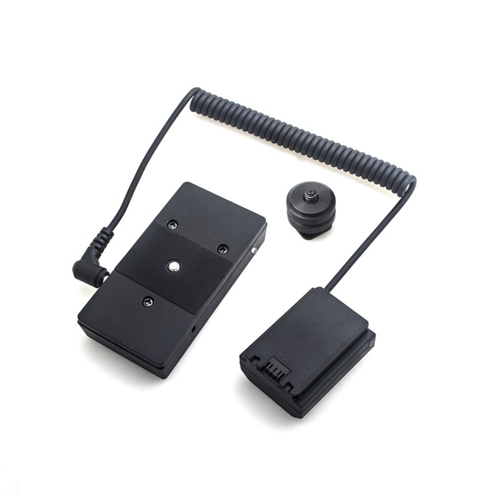 Power Adapter NP-FZ100 Full Decoding Dummy Battery + F970 Battery Mount Plate Adapter Spring Cable for Sony Series power adapter np fz100 full decoding dummy battery f970 battery mount plate adapter cable power supply accessories for sony