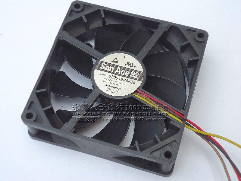 Sanyo 9S0912P4F04 DC 12 В 0.17A 4-wire 4-контактный разъем 92x92x25 мм сервер площадь Вентилятор