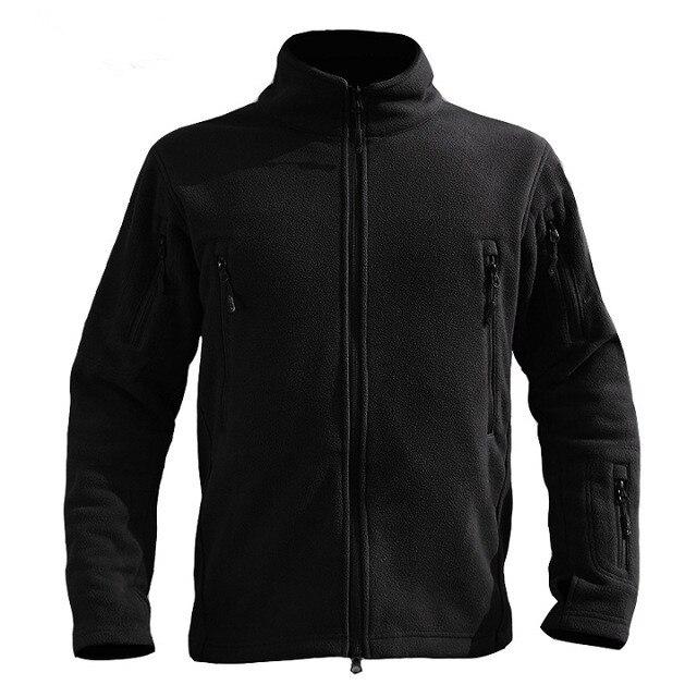 e3c7fe62370 US $28.88 32% OFF|Outdoor Spring Autumn Lightweight Tactical Military  Fleece Jacket Men Warm Outerwear Lining Coat Sport Running Jackets-in  Running ...