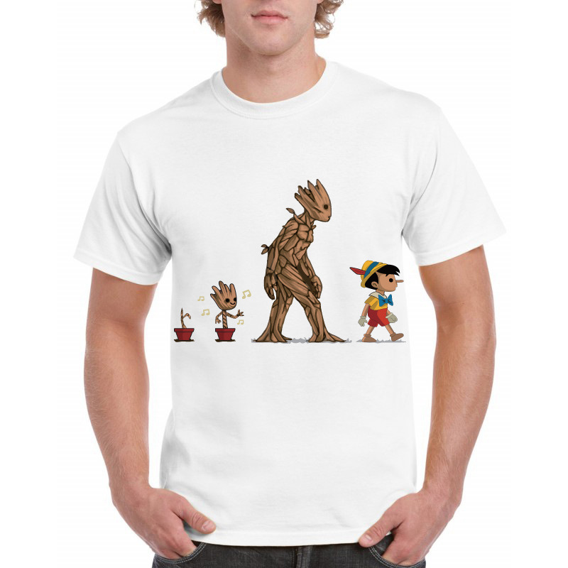 Newest Guardians Of The Galaxy 2 Men Fashion Casual T-shirt Plus Size Anime Groot Print Summer 2018 Boys cool Tops Tees