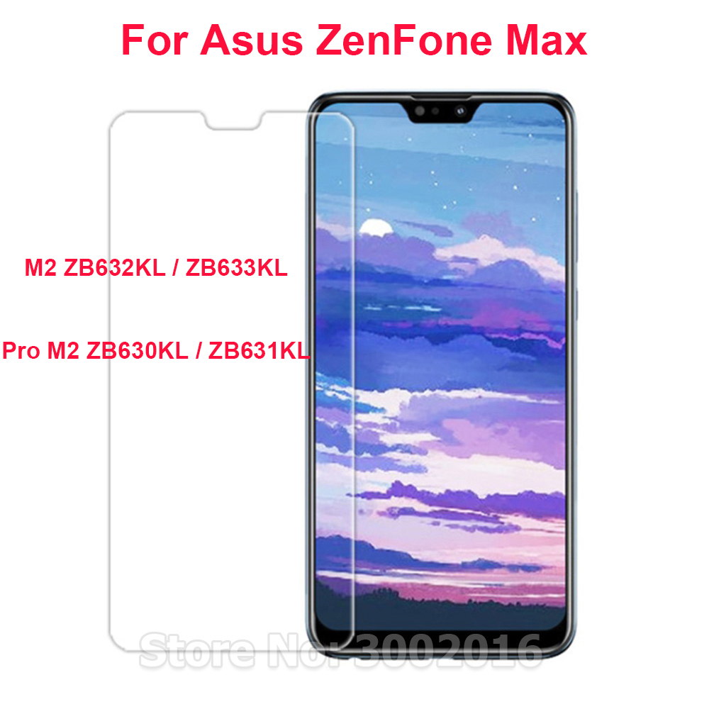 2PCS Tempered Glass For Asus Zenfone Max Pro (M2) ZB631KL Screen Protector On for Asus Zenfone Max M2 ZB633KL Protective Film