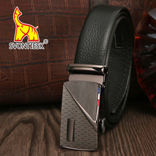 SVONTIESK ZD016 NEW% Cowhide Leather Men's Belt Automatic Buckle Business Pants High Quality Belt Free Shipping