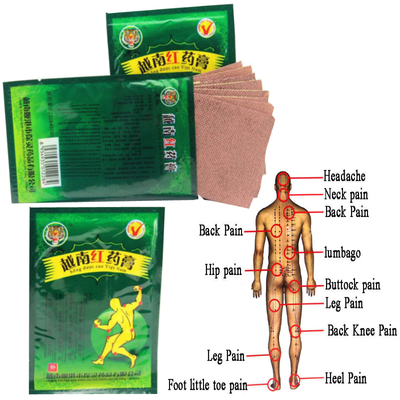48pcs Pain Relief Vietnam Red Tiger Balm Plaster Treatment Medical Arthritis Pain Stiff Shoulder Joint Patch Relief Rheumatoid 8pcs medical plaster tiger balm arthritis joint pain rheumatism shoulder pain body massage patch from backache health k00101