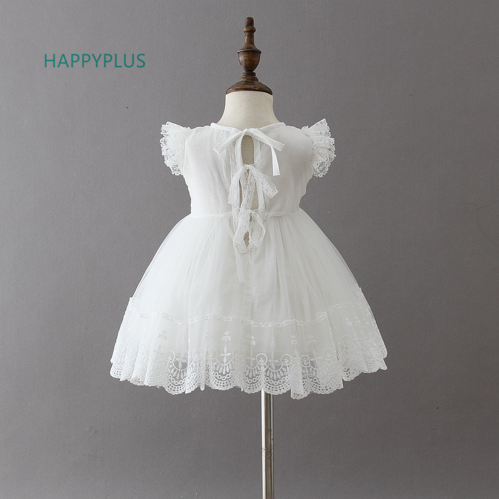 Image 2 - HAPPYPLUS Baby Christening Gowns Infant Baby Girl Dress Baptism for Little Girl Clothes Summer Dresses for Baby Girl Wedding-in Dresses from Mother & Kids