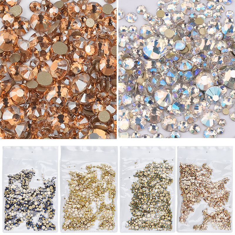 1pack Shiny Mixed Size (SS3 SS20) Crystal Colorful Flat Nail Art Rhinestone  Decorations Glitter Gems 3D Manicure Books Accessory-in Rhinestones ... d44def0b5829